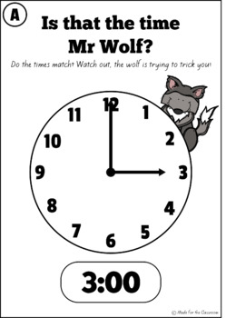Is that the time Mr Wolf? - Telling time, whole class activity