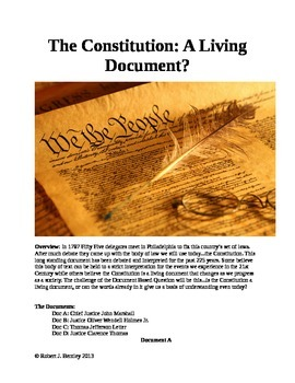 Is the Constitution a Living Document?