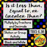 Is the Product Less Than Greater Than or Equal to? TEKS 6.3B