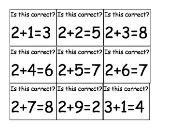 Is the answer correct? Addition and Subtraction Game