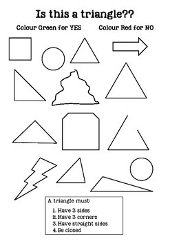 Is this a triangle worksheet 2D shapes