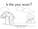 Is this your acorn? Interactive Emergent Reader for Fall