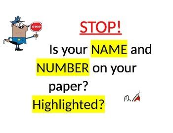Is your name on your paper? (editable)