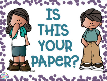 Is your paper missing your name?  FREEBIE