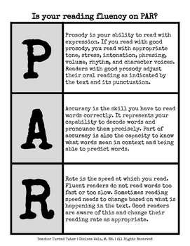 Is your reading fluency on PAR? [Prosody, Accuracy, and Rate]