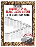 Isaac, Jacob, and Esau Guided Notes and Reading (Bible Genesis Chapters 24-26)
