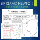 Isaac Newton Biography Graphic Organizer Interactive Journal