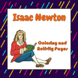 Isaac Newton Coloring and Activity Book Pages - Good for D