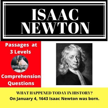 Isaac Newton Differentiated Reading Passage January 4