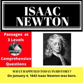 Isaac Newton Differentiated Reading Comprehension Passage January 4