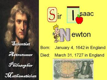 Isaac Newton - Facts - 3 Laws of Motion
