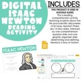 Isaac Newton Google Slides Reading Comprehension Activity