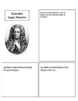 Isaac Newton Homework page