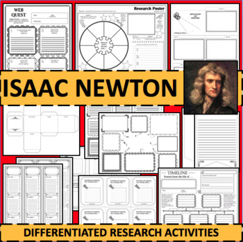 Isaac Newton Timeline Poster Acrostic Poem Activity with Reading Passage