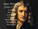 Isaac Newton - clean text, variety of visuals