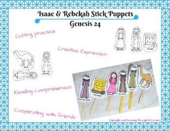 Isaac & Rebekah Stick Puppets
