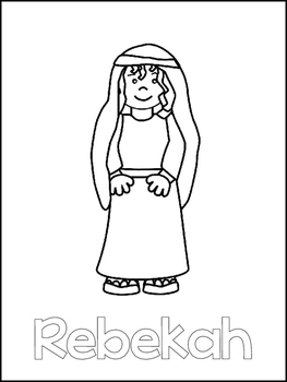 Isaac and Rebekah Printable Color Sheets  Preschool Bible Study Curriculum
