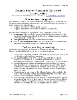 Isaac's Storm by Erik Larson Reader's Guide #1 – Introduction