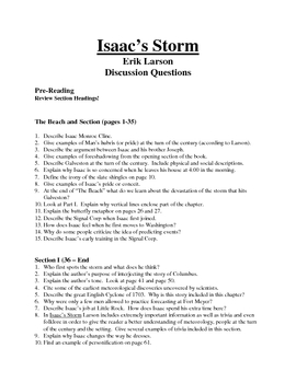 Isaac's Storm Discussion Questions