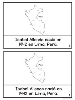 Isabel Allende Reader {Hispanic Heritage} Organizer, & Timeline {En español}