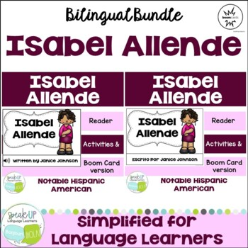 Isabel Allende Readers {Hispanic Heritage Month} Bilingual version