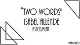 "Isabel Allende's ""Two Words"" Mini-Unit"
