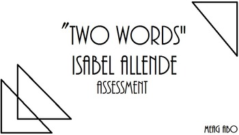 Isabel Allendes Two Words Mini Unit By Literacy Helpers Tpt