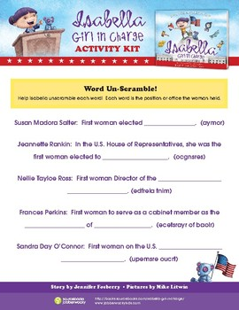 Isabella: Girl in Charge Activity Kit