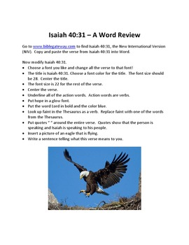 Isaiah 40 To Mount Up With Wings as Eagles – A Microsoft Word Review