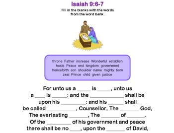 Isaiah 9:6-7 KJV Verses for Memorization