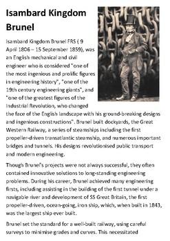 Isambard Kingdom Brunel Handout