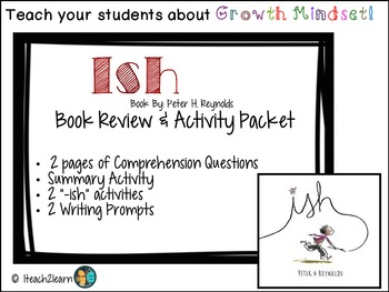Ish: Comprehension Questions and  Activity Packet-Growth Mindset