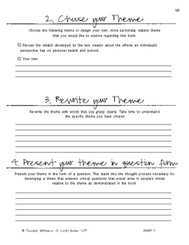 Ish - Literary Essay Writing practice activity on 'Ish' by Peter H. Reynolds