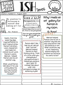 Growth Mindset - Ish - Writing for 3rd and 4th grade