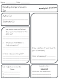 Ish - Reading Comprehension Sheet