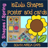 IsiZulu Shapes (izimo) Poster and spring themed shape cards