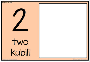 IsiZulu and English Number Mats 1 to 10