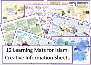 Islam: 12 Creative Learning Mats / Revision Sheets!
