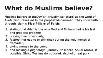 Islam At A Glance Powerpoint