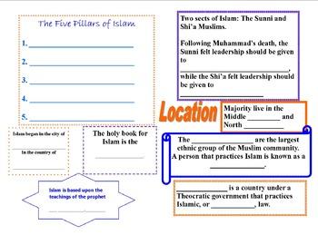 Religion: Islam Booklet