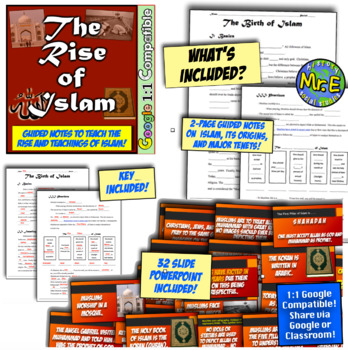Islam Guided Notes!  Teach the Founding, Tenets, and Beliefs of Islam!