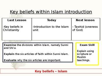 Islam - Key beliefs