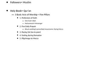 Islam: Origins, Practice, Muhammad, and Spread PPT