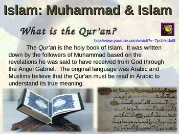 Islam PPT (ALL 5 parts in 92 EPIC PPT slides!) with FREE guided notes