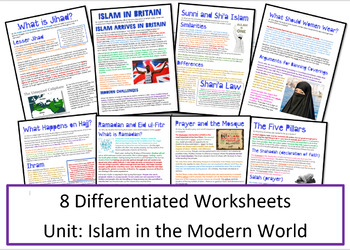 Islam: Practices: Islam in the Modern World Worksheets/Activities