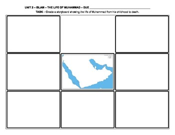 Islam - The Life Of Muhammad Storyboard Homework