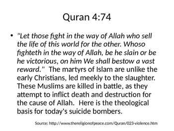 Islam Violence Thought Museum