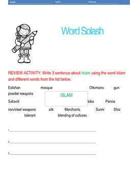 Islam Vocabulary Review Wordsplash