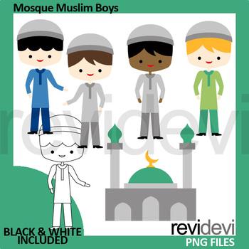 Islam clip art (Mosque Muslim Boys)