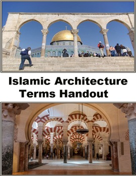 Architecture- Islamic Architecture Terms 4 page handout